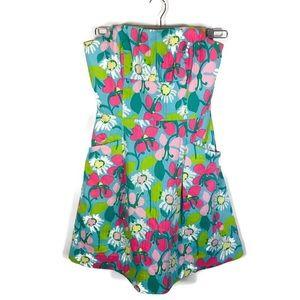 Lilly Pulitzer Strapless Blossom Dobby Dress